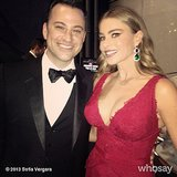 Jimmy Kimmel and Sofia Vergara posed for a photo before presenting together on stage. Source: Sofia Vergara on WhoSay