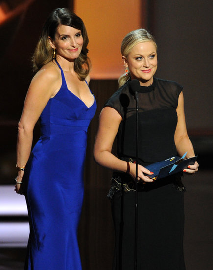Amy Poehler and Tina Fey presented at the 2013 Emmy Awards.