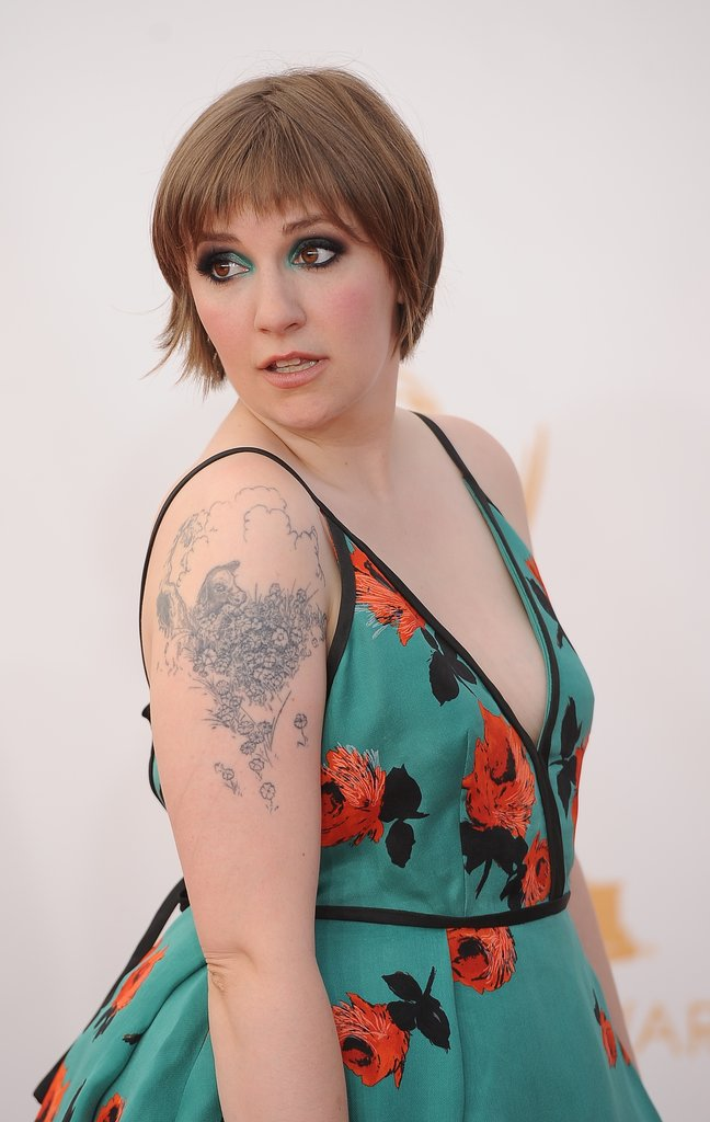 Lena Dunham at the Emmy Awards