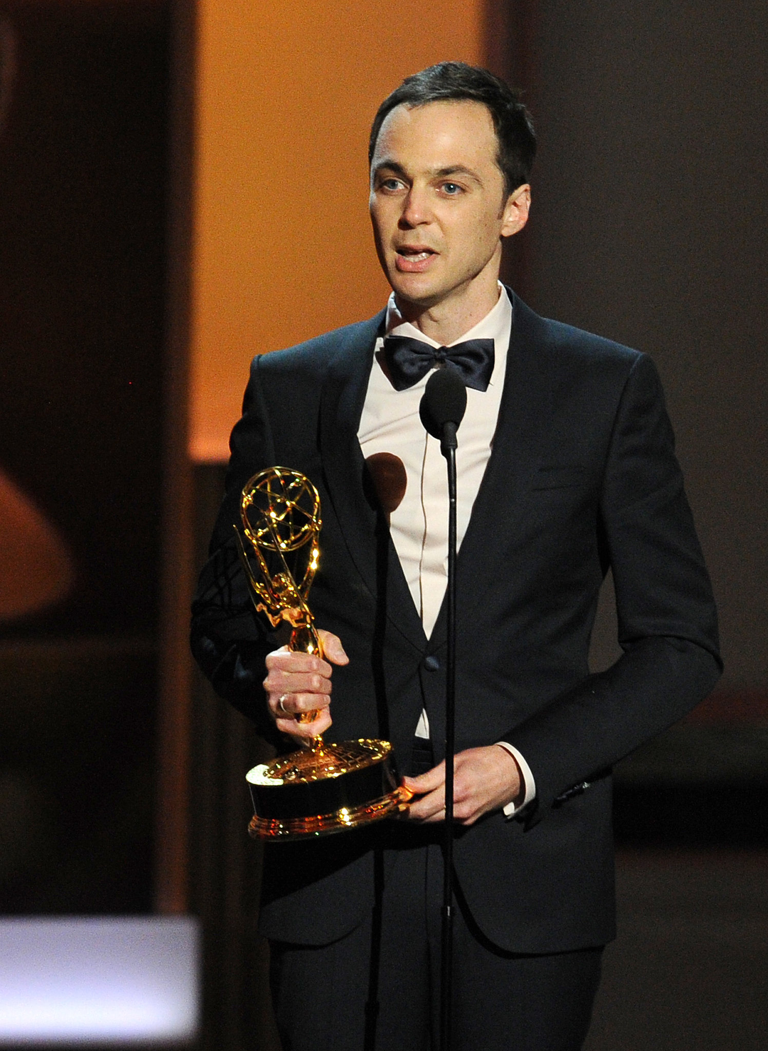 Jim Parsons became emotional when he accepted the award for best l