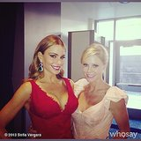 Modern Family costars Sofia Vergara and Julie Bowen snapped a photo together during the show. Source: Sofia Vergara on WhoSay