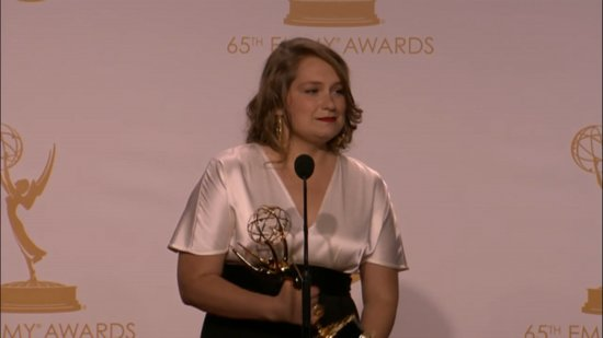"Merritt Wever Actually Gives Her Emmys Speech Backstage — ""I Have Therapy Next Week!"""
