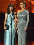 Zooey Deschanel, presented an award with her sister, Emily.