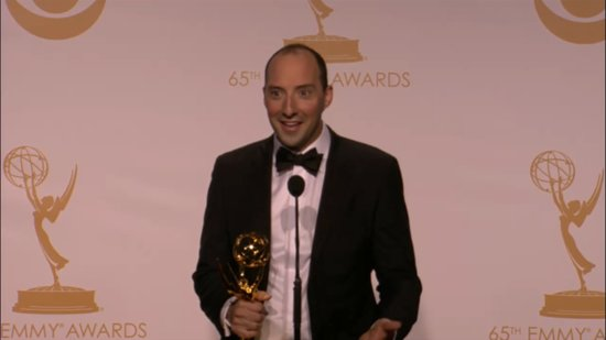 Tony Hale Brings His Emmys Giddiness Backstage