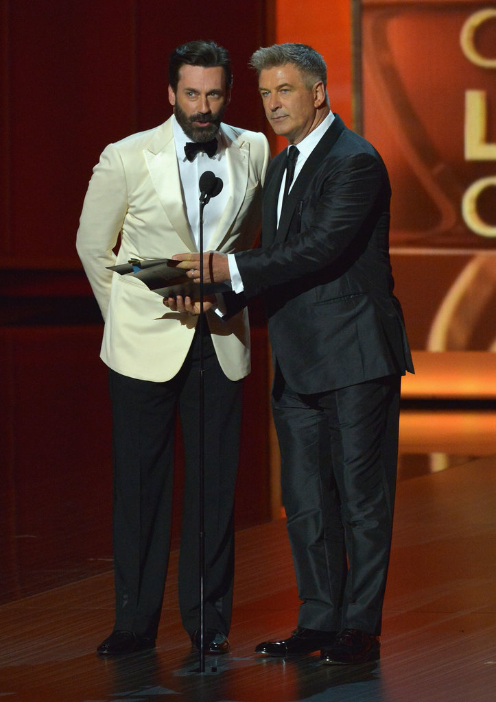 Jon Hamm and Alec Baldwin presented an award together.