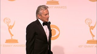 Michael Douglas Emmy Awards Backstage Interview | Video