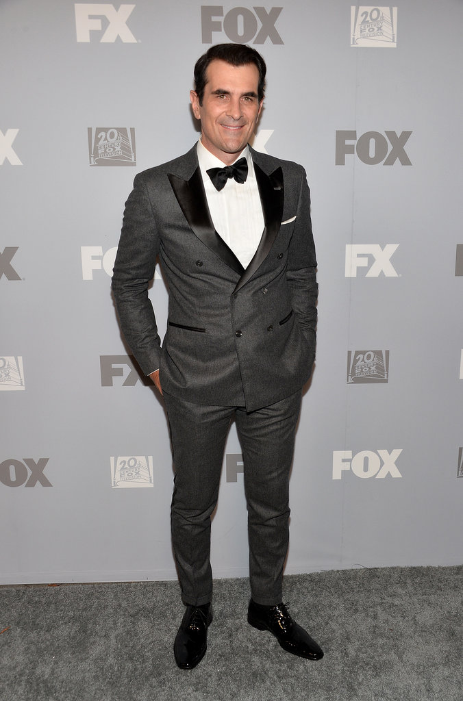 Modern Family's Ty Burrell sported a sharp suit for Fox's Emmys afterparty in LA.