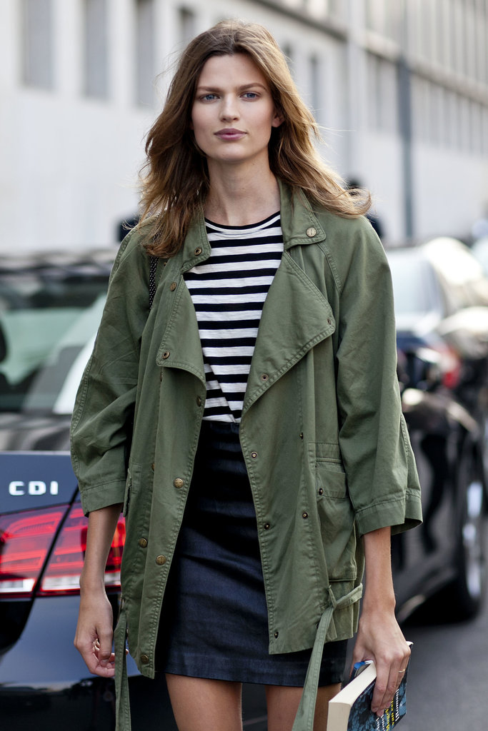 When in doubt, throw on an army green parka.<br /><br /><br /><br />