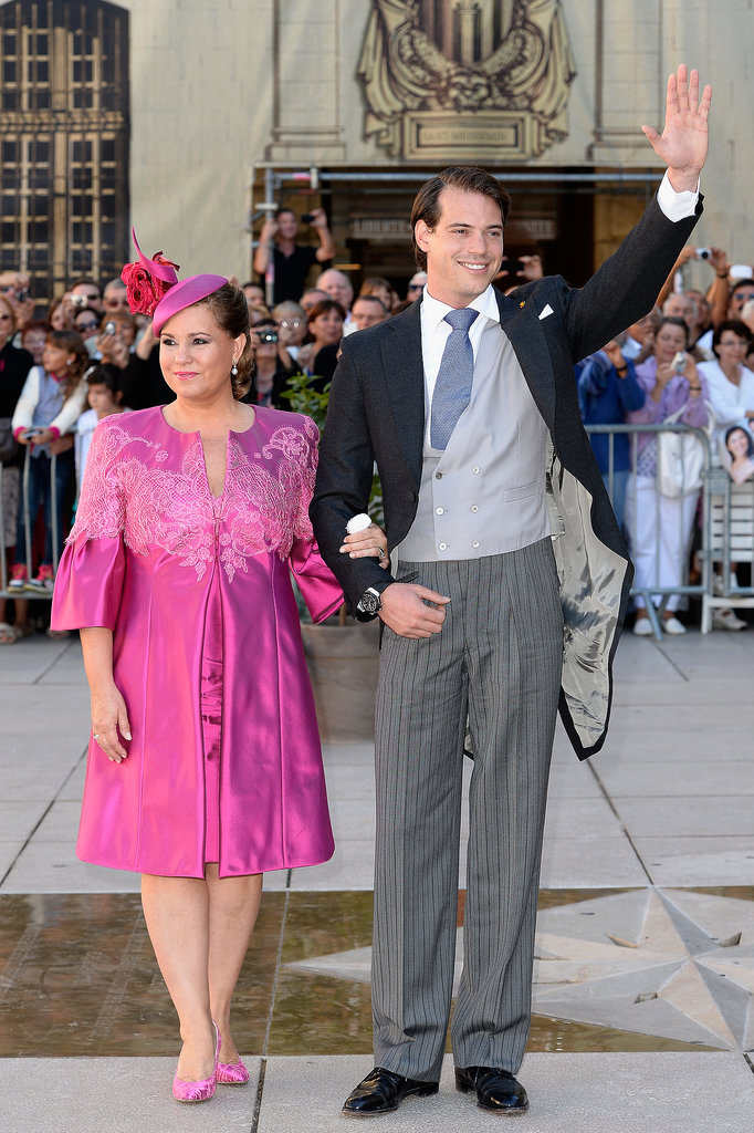 Prince Félix of Luxembourg took a picture with his mother, Grand Duchess Maria Teresa.