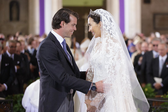 Prince Félix of Luxembourg and Claire Lademacher shared a sweet moment during their wedding ceremony.