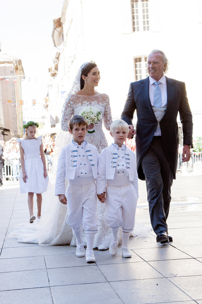 Claire Lademacher walked down the aisle with her father, Hartmut Lademacher.