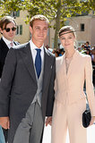 Pierre Casiraghi — third in line to the throne of Monaco — and his girlfriend, Beatrice Borremeo, were among the guests.