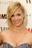 At the Vanity Fair and Maybelline toast to Mad Men, January Jones went for a hairstyle that was rockstar chic with piecey bangs.