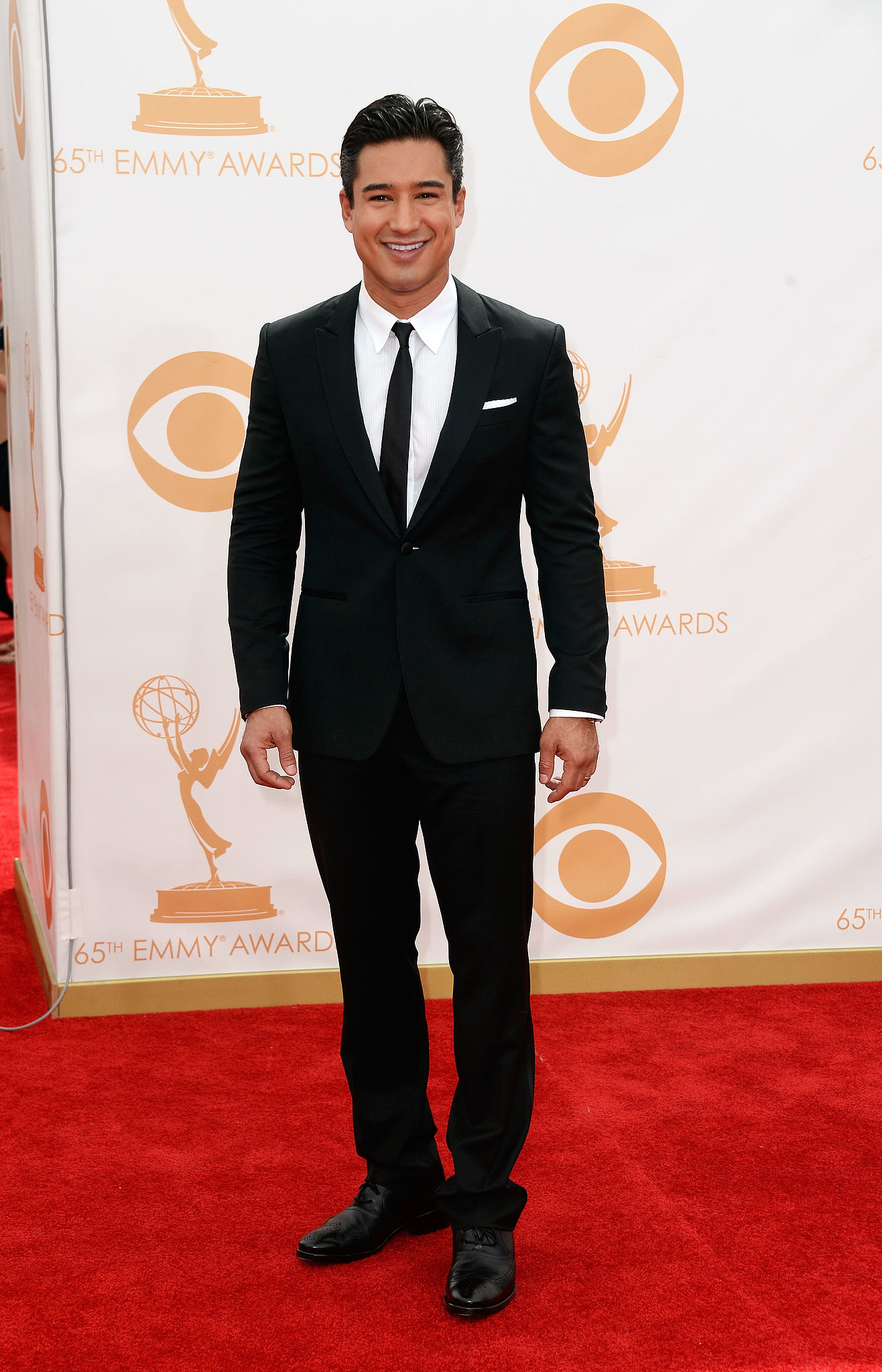 Mario Lopez sported a dapper look for Emmys night.