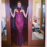 Heidi Klum showed off her sexy Versace dress before heading to the show. Source: Instagram user heidiklum