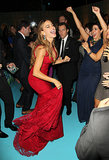 Sofia Vergara danced at the 2013 HBO Emmys after party.