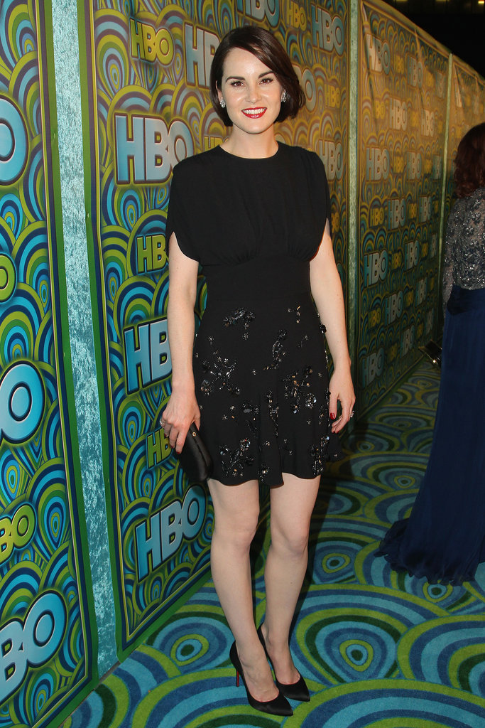 Michelle Dockery wore black at the 2013 HBO Emmys afterparty.