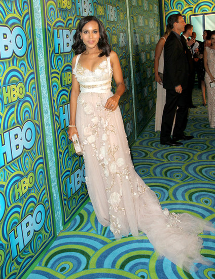 Kerry Washington walked the carpet at the 2013 HBO Emmys afterparty.