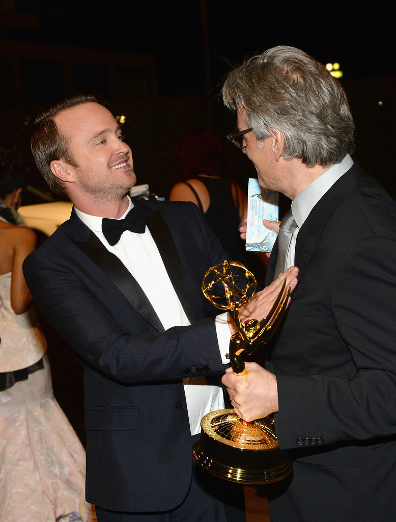 Aaron Paul and Mark Johnson attended the 2013 Emmys Governors Ball.