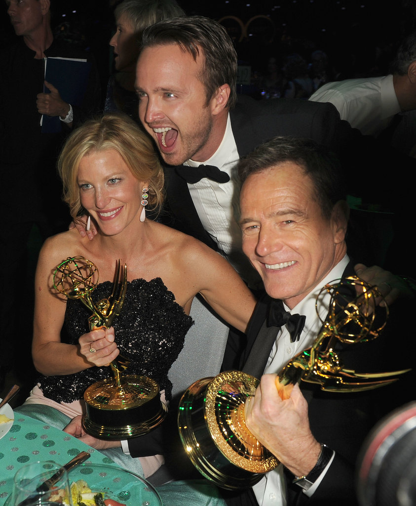 Anna Gunn, Aaron Paul, and Bryan Cranston attended the 2013 Emmys Governors Ball.