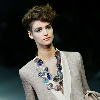 Giorgio Armani Spring 2014 Hair and Makeup | Runway Pictures