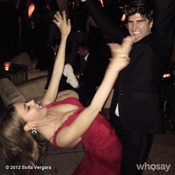 Sofia Vergara danced with Jesse Tyler Ferguson's husband, Justin Mikita. Source: Instagram user sofiavergara