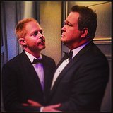 Jesse Tyler Ferguson and Eric Stonestreet shared a moment backstage. Source: Instagram user ericstonestreet