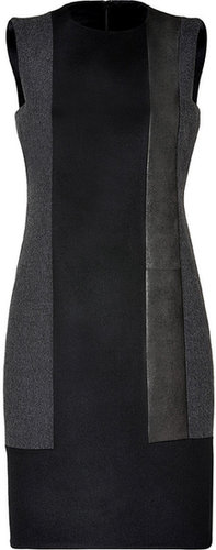 Akris Black/Charcoal Wool/Leather Dress