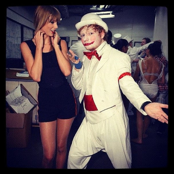 You can't say Taylor Swift and Ed Sheeran didn't dress for the occasion. Source: Instagram user taylorswift