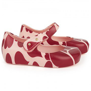 The sweetest soles wear Mini Melissa's Pink Heart Print Shoes ($90).