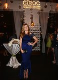 Connie Britton posed for photos in front of a Ciroc display.