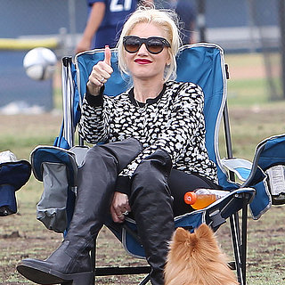 Gwen Stefani Watching Her Son's Soccer Game in LA