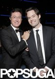 Stephen Colbert and Bill Hader met up during the show.