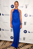 At the 2013 Fashion Institute of Technology Foundation benefit gala in NYC, Karolina Kurkova wore a custom-made cobalt Loft dress that just became available to buy ($98)!