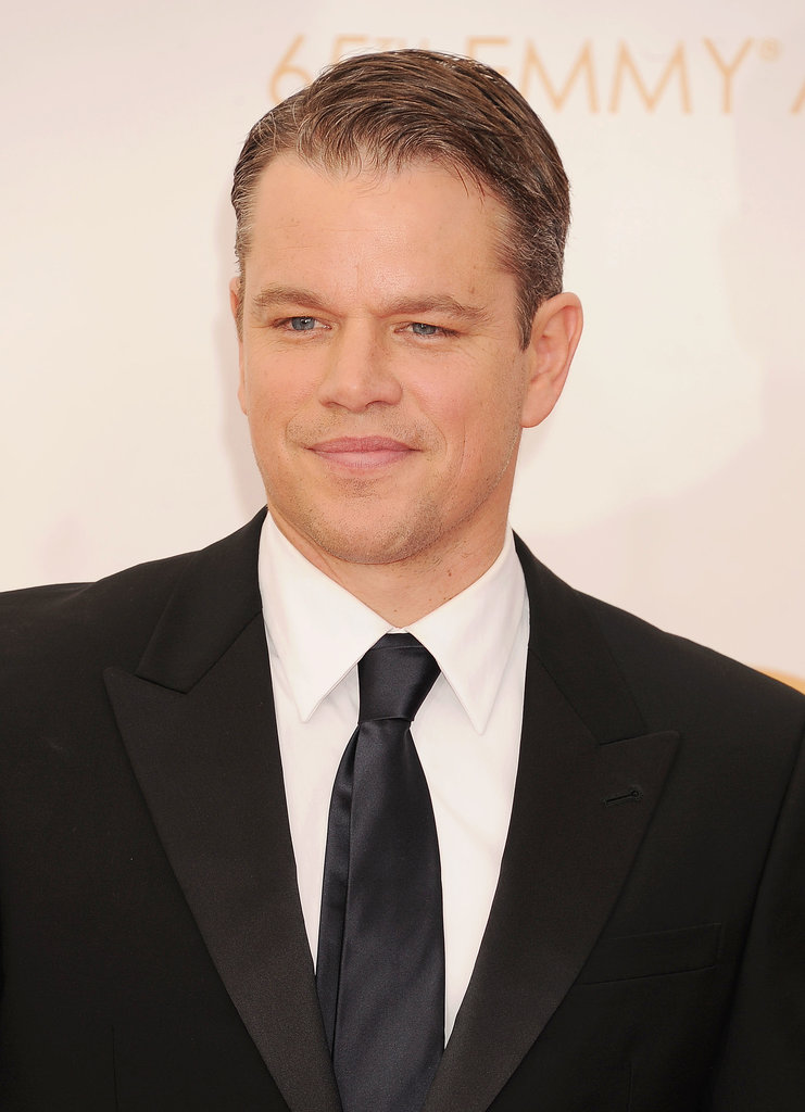 Matt Damon suited up for a sleek Emmys look.