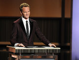 Emmys host Neil Patrick Harris flashed a smile during the show.