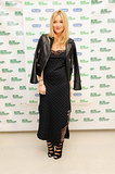 At the Macmillan De'Longhi Art Auction, Laura Whitmore paired her Zara dress with edgy accents including a leather moto jacket.