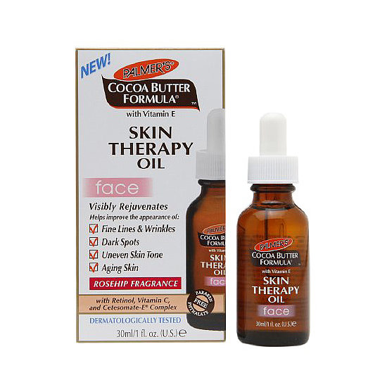 The Palmer's Cocoa Butter Formula Skin Therapy Oil For Face ($10) is a multitasking oil that treats a variety of complexion concerns, including fine lines, dark spots, and dryness.