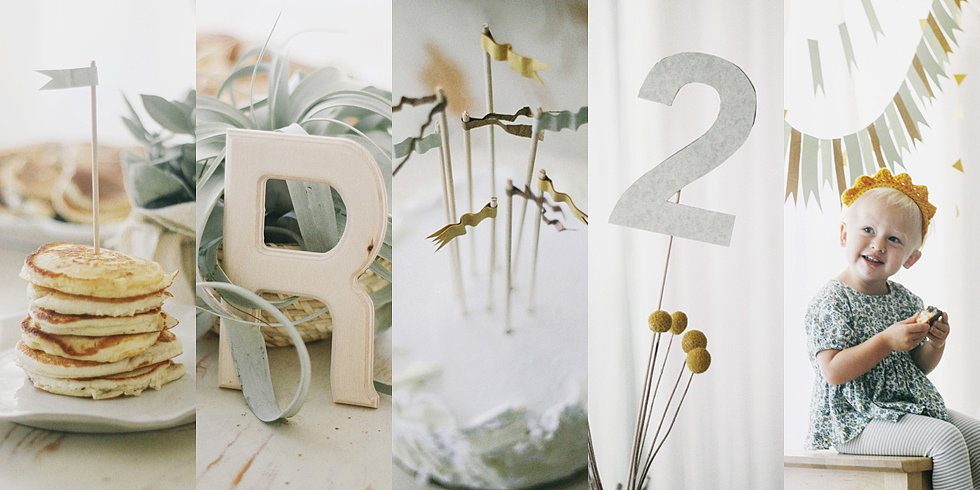 A Sweet, Simple, and Stylish Second Birthday Brunch