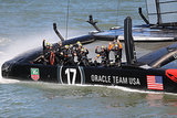 Oracle Team USA celebrated after defeating Emirates Team New Zealand in the America's Cup finals.