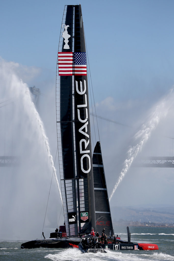 Oracle Team USA competed in the America's Cup finals in San francisco.