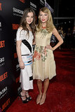 Hailee Steinfeld and Taylor Swift met up on the red carpet of Tuesday night's Romeo and Juliet premiere in LA.