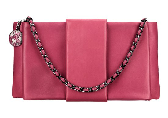 Chanel Pink Leather Clutch Photo courtesy of Chanel