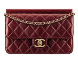 Chanel Dark Red Quilted Leather Bag With a CC Lock Photo courtesy of Chanel
