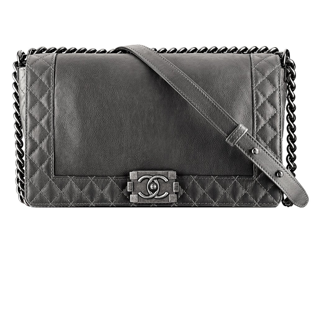 Chanel Dark Gray Leather Boy Chanel Bag Photo courtesy of Chanel