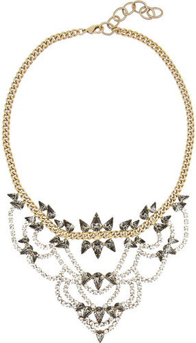 Elizabeth Cole Gold-plated Swarovski crystal necklace