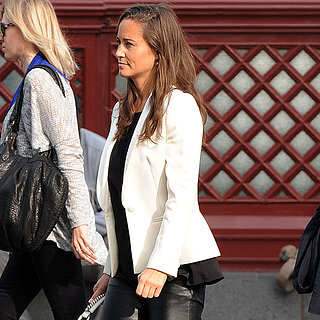 Pippa Middleton Wearing Leather Pants