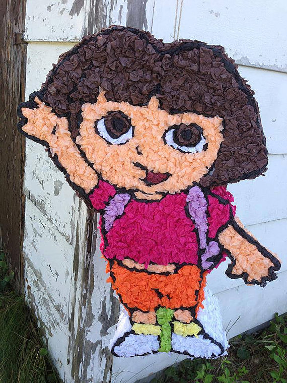 Dora the Explorer by Friendly Frogs Piñatas ($45)