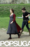 Emily Blunt Disguises Her Baby Bump as She Heads Into the Woods