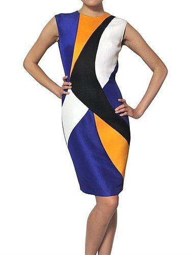 Roksanda Ilincic - Silk Gazar, Wool Crepe And Tweed Dress